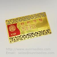 China Etched Metal Membership Cards, Custom Photo Etching VIP Member Cards on sale