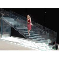 China Lowest Factory Price 8mm flat clear laminated safety glass for stairs / toughened glass on sale