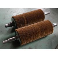 Deburring Steel Tube Industrial Roller Brushes / Steel Wire Roller Brushes Manufactures