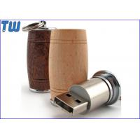 Wooden Wine Barrel 1GB Pendrives USB Metal Stick Free Key Ring Manufactures