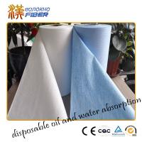 Baby Wipes Jumbo Roll Non Woven Synthetic Fabrics , Breathable Waterproof Nonwoven Fabric Manufactures