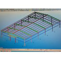 China Light Weight Steel Structure Warehouse Design Fabricate With 90km / H Wind Load on sale