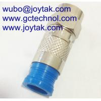 F Compression Connector for RG59 Coaxial Cable indoor and outdoor CATV cable Manufactures