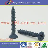 China Blue Ruspert Phillips Flat Head Concrete Screws on sale