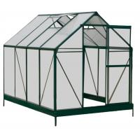 China Sturdy Aluminum Framing 4mm UV Twin-wall Polycarbonate Sheets Greenhouses 6' X 8' on sale