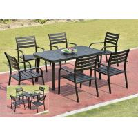 China Garden Metal Dining Set / Cast Aluminum Outdoor Furniture Table And Chair on sale