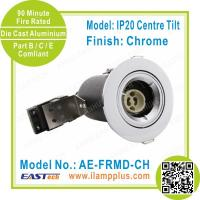 Quality IP20 Tiltable Chrome Fire Rated Downlight | Die Cast Downlight Fitting for sale