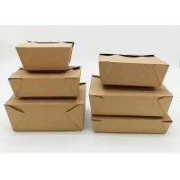 Microwavable Stackable Folding Cardboard Takeaway Food Containers Recyclable Manufactures