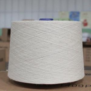 Raw White Hemp Organic Cotton Blend Spun Yarn 21Ne  for Textiles /  Leathers