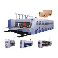 China Automatic Feeding Corrugated Carton Box Making Machine / Flexo Printing Machine on sale