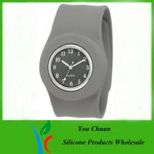 Customized Waterproof Silicone Slap Watch With Janpanese Quartz / Digital Movement