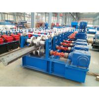 Two Wave / Three Wave Road Guardrail Roll Forming Machine With Gearbox Drive Manufactures