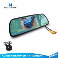 China Aftermarket Backup Camera System 4.3 Inch Rear View Mirror Monitor on sale