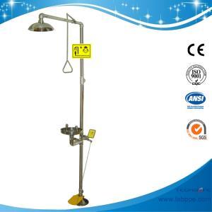 SH712BSF-emergency shower eyewash Foot pedal SUS304 Safety shower & eyewash station,SS304 emergency shower Eyewash Manufactures