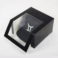 China Fancy Design PVC Window White Card Custom Logo Printed Folding  Cap Hat Gift Paper Packaging Box on sale