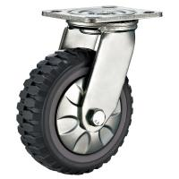 """Buy cheap Top Plate Fitting 5""""X 2""""Grey PU Wheel Heavy Duty Dolly Wheels from wholesalers"""