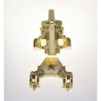 Funeral Coffin Ornaments Star Design Casket Fitting 12# In Gold Finish Manufactures