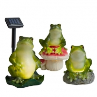 China 1.2 Volt 0.1w Frogs Animal Shaped Solar Garden Lights on sale