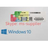 China Microsoft Oem Software COA License Sticker , Windows 10 Pro Pack OEM on sale