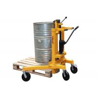 Manual Hand Hydraulic Drum Dumper For Transport With Braking Rear Castor Manufactures