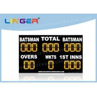 Waterproof LED Cricket Scoreboard UV Protection Yellow Color 110V ~ 240V Manufactures