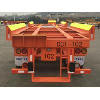 Solid Tyre Flatbed Container Trailer 45ft 2 Axles Container Transport Trailer Manufactures