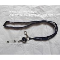 Quality Luxury tube lanyard with metal retractible badge reel for sale