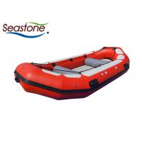 8 Person White Water Rafting Boat Red Low Profile Easily Maintained Air Mat Bottom Manufactures
