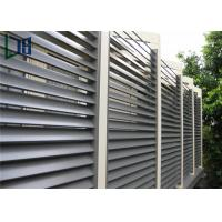 Aluminum Frame Plantation Shutter Aluminum Louvers For External Sun Shading Manufactures