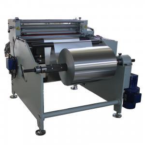 max width 800mm AL foil cutter Aluminium foil roll to sheet cutting machine