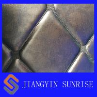 Comfortable PU PVC Synthetic Leather Upholstery Fabric With Waterproof Film Manufactures