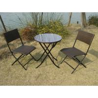 Pool / Beach Leisure Resin Wicker Chair Set With Aluminum Frame Manufactures