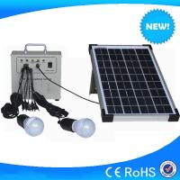 10w portable mini solar home lighting kits with mobile charger for hot sale Manufactures