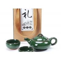 Gift Packing Promotional Ceramic Mugs Green Small Ceramic Tea Cups With Teaport Manufactures