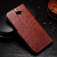 Huawei Y7 Crazy Horse Leather Wallet Case , Slim Design Huawei Phone Cases Manufactures