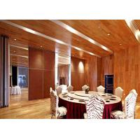 Sound Insulation Sliding Partition Wall For Home , Sliding Room Dividers  HPL Finish Manufactures