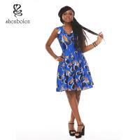 Beautiful Cotton Wax Maxi Maxi African Print Dresses Styles For Ladies Manufactures