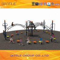 Outside Children Fitness Playground Equipment With Arch Bridge , Playground Exercise Equipment Manufactures