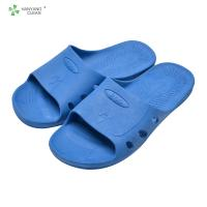shanghai white blue SPU anti-static slipper supplier Manufactures