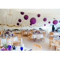 Luxury Wedding Tents Aluminum Profile Lining Deco Different Desk and Table Options Manufactures