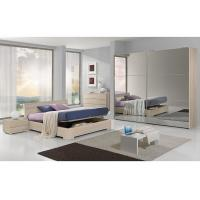 Full Mirror Sliding Wardrobe Free Standing Bedroom Furniture King Size For 5 Star Hotels Manufactures