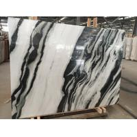 Black Vein Natural Marble Tile For Wall / Water Jet Design Grade A Quality Manufactures