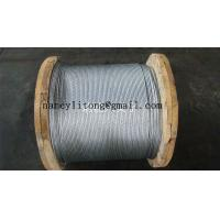 Waterproof Galvanised Steel Wire Cable , 7 Wire Strands High Strength Steel Cable Manufactures