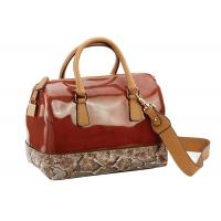 China Gold / Red PU Leather Bag for Womens , Detachable Shoulder Strap on sale