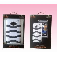 China custom luxury mobile cell phone case packaging paper box with metal hanger on sale