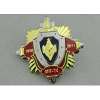 China 3D Army Souvenir Badges Soft Enamel , Gold And Nickel Plating on sale