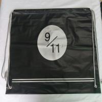 Transparent Rope Bag Rucksack , Black Outdoor Clear Plastic Drawstring Bags Manufactures