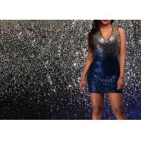 Mermaid Gold Stretch Gradient Sequin Fabric Sublimation Woven For Garment Manufactures