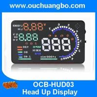 Ouchuangbo 5.5 inch multi colour auto HUD car head up display with bluetooht support  refuel RPM icon speed alarm Manufactures