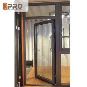 China Customized Design Aluminium Hinged Doors For Construction Buildings stainless steel glass door hinge Door hinge black on sale